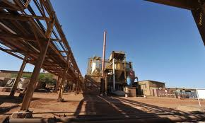 Uranium mine in Niger. Pic courtesy of The Guardian