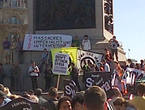 31 Aug 2013 Anti war demo