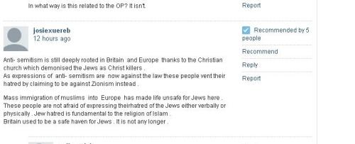 Josiexurb anti-Semite