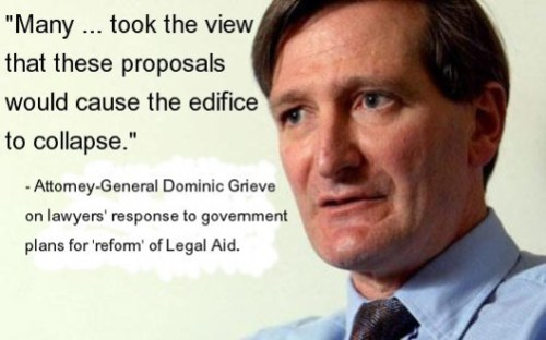 Sacked: Dominic Grieve's reservations about Legal Aid cuts put him at adds with the Coalition government; it seems his concern over a planned attack on human rights led to his sacking.
