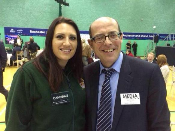 Britain First's deputy fuehrer and Nick Robinson